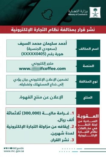 التجارة تغرم منصور الرقيبة وأحمد السيف نصف مليون بسبب إعلان القهوة - المواطن