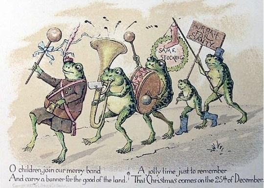 Frog band by Louis Prang