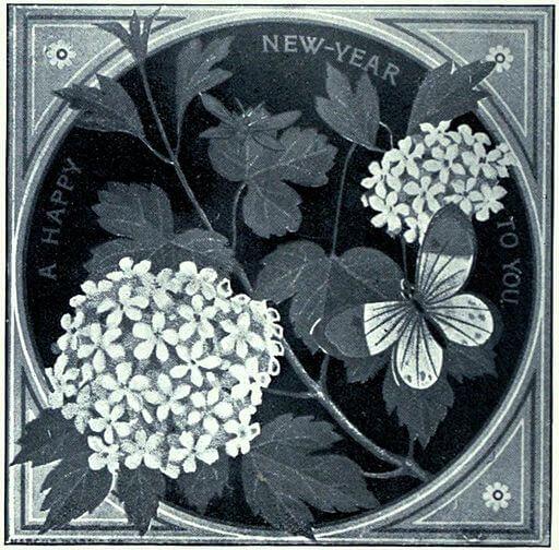 Happy New Year, Thomas Crane, 1880