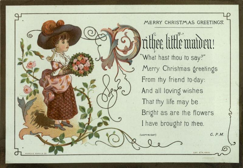 Kate Greenaway Maiden Poem