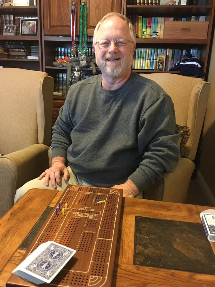 Tommy Playing Cribbage