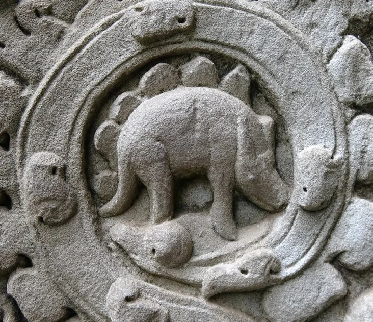 The Stegosaur Engravings At Ta Prohm Answers In Genesis