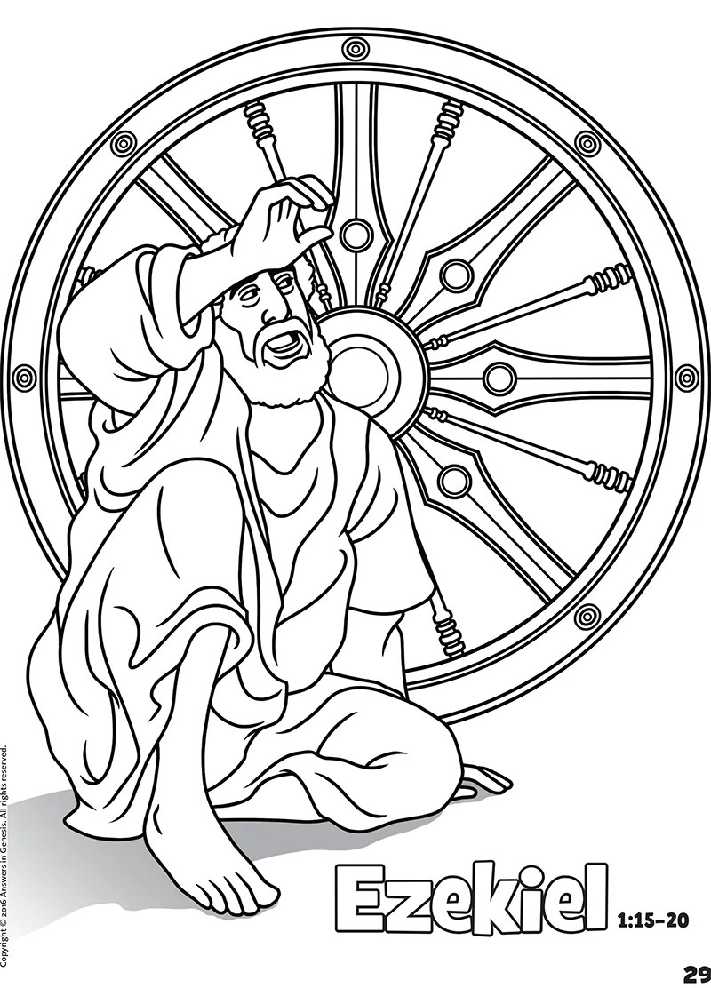 Elisha From The Bible Coloring Pages