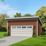 Double Bay Garage Plan With Shed Roof 68528vr Architectural Designs House Plans
