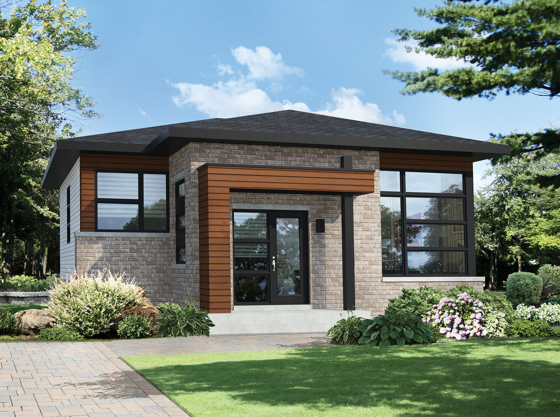 Two Bedroom Modern House Plan - 80792PM