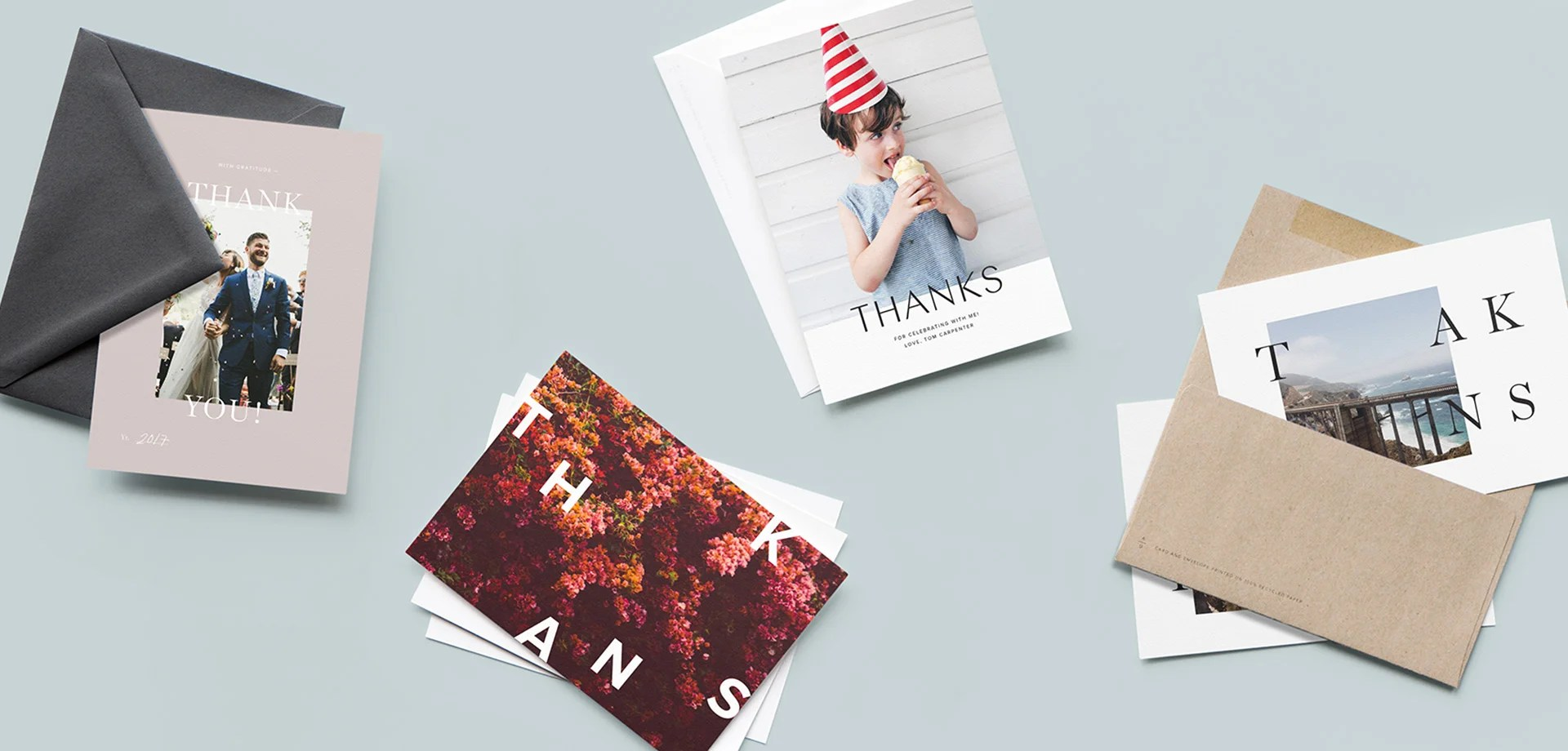 5 Photo Ideas For Thank You Cards
