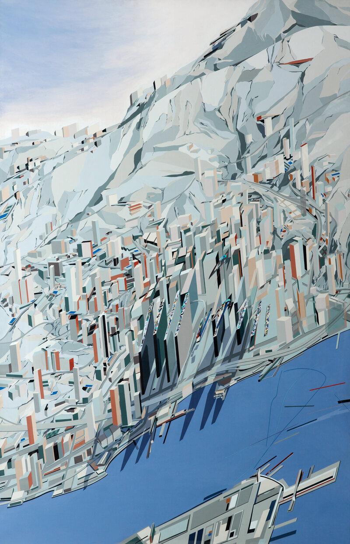 22.3000° N, 114.1667° E, Zaha Hadid, The Peak, 1982–83.