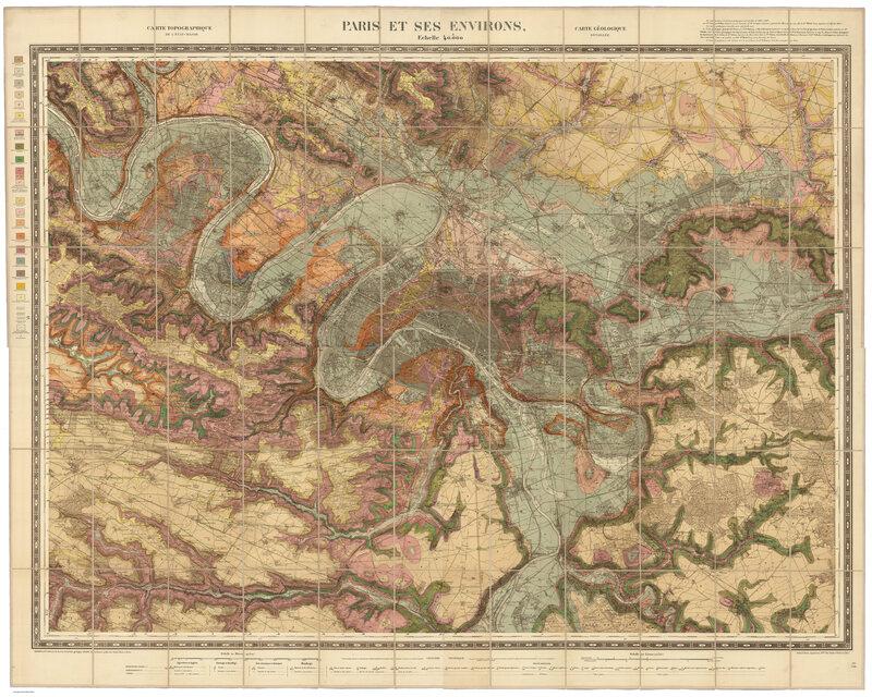 48.8742° N, 2.3470° E,Service Géologique des Mines, Paris et Ses Environs, 1890.