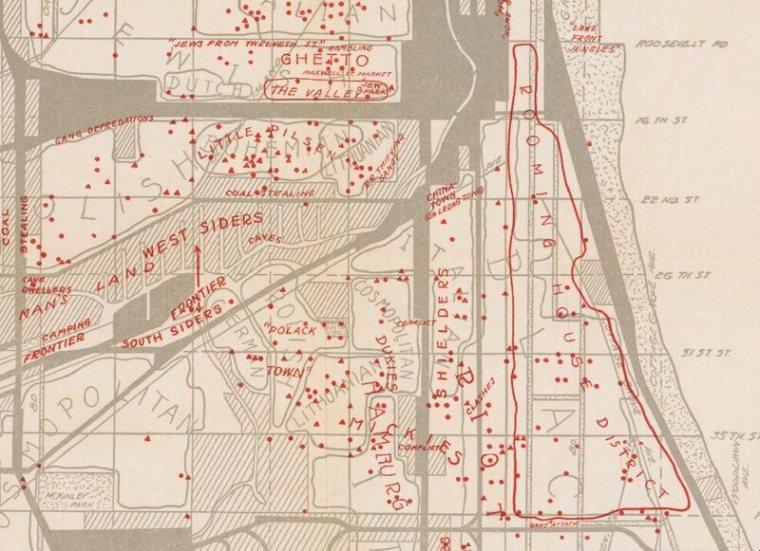"""Polonais, juifs et noirs gangs ont été trouvés dans la expansive """"Wilderness West Side."""""""