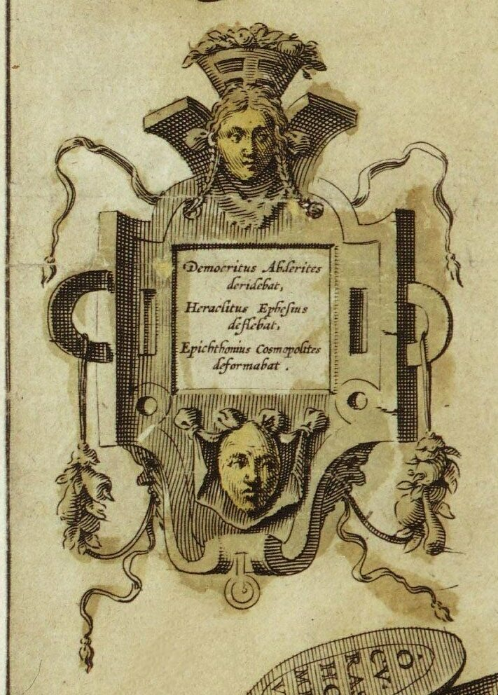 Who created the map? It's still a mystery. One of the names on this cartouche may be the illustrator's.