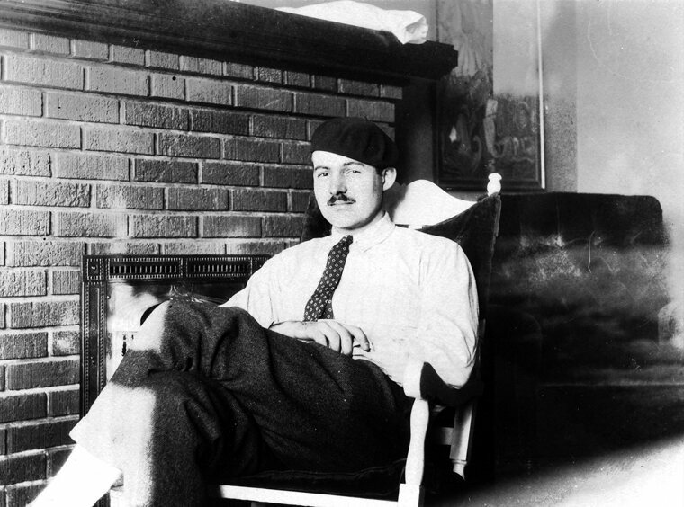 Hemingway eventually did make it to Europe; here he is in Paris, in 1924.