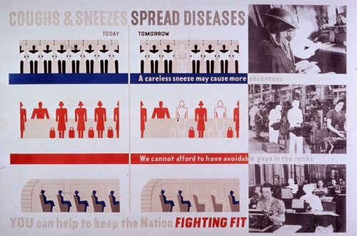 A British public health poster from the 1940s.