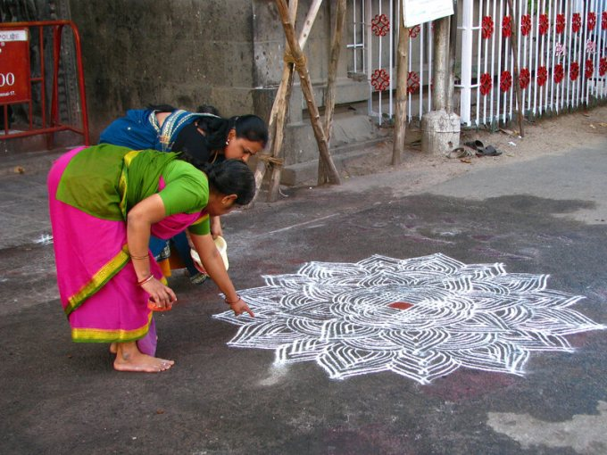 Woman have been teaching each other these traditional designs for centuries.