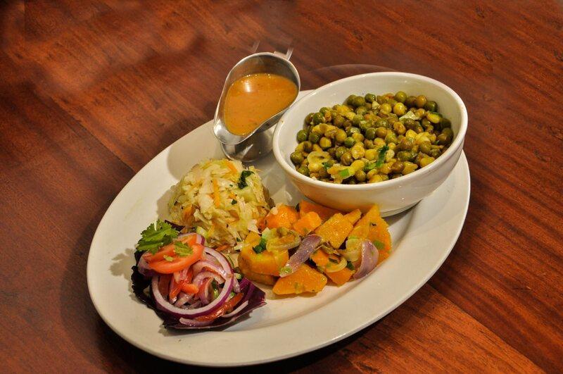 A dish of <em>githeri minji</em>, a green-pea stew.