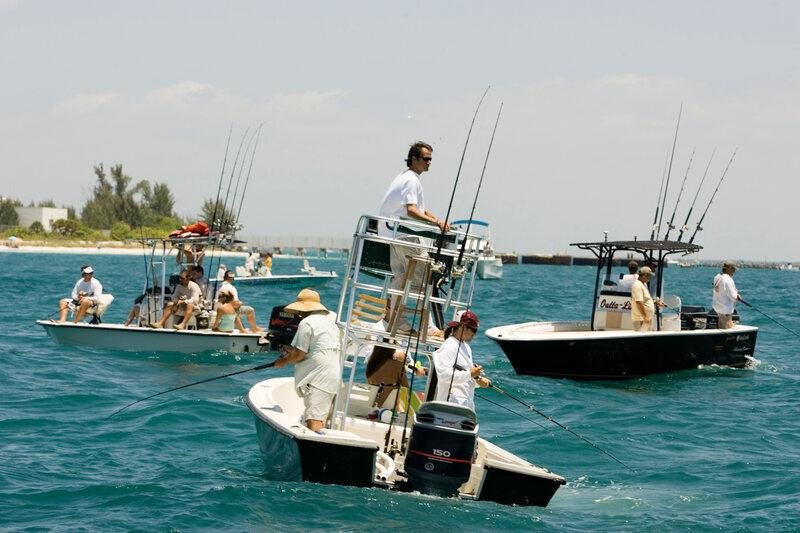 Tarpon fishing draws a crowd every year in Florida's Boca Grande Pass.