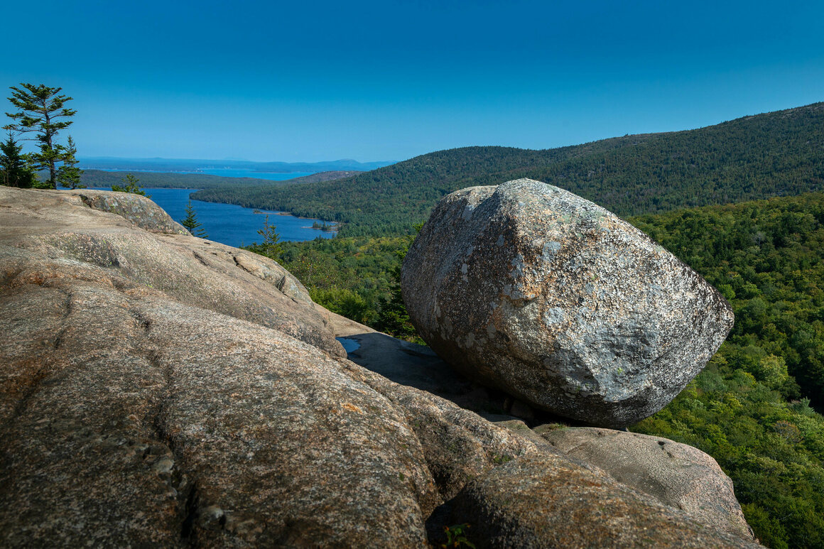 Bubble Rock, a PBR in Acadia National Park, Maine.