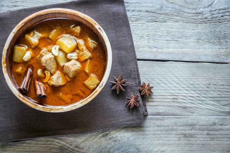 Massaman curry recipes are often included in the Bunnag family's funeral books.