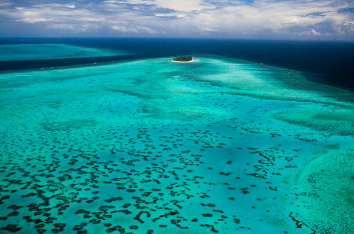 Heron Island sits at the southern end of Australia's Great Barrier Reef.