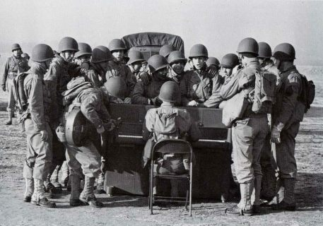 A demonstration by the Special Service Unit in Fort Meade, Maryland, in 1943.