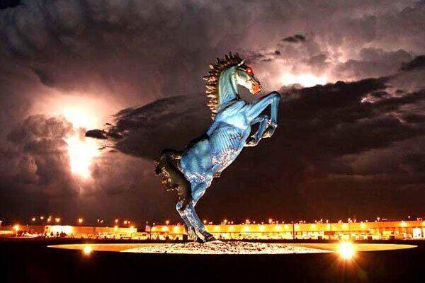 Blue Mustang Denver Colorado Atlas Obscura