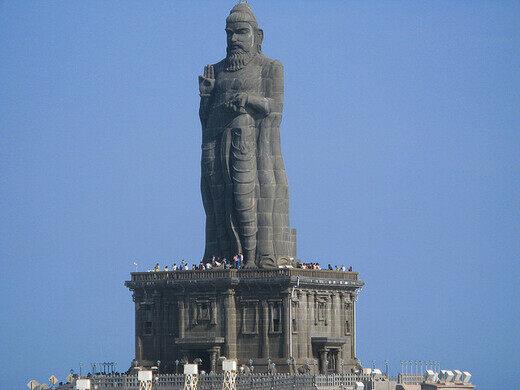 Thiruvalluvar Statue Kanyakumari India Atlas Obscura