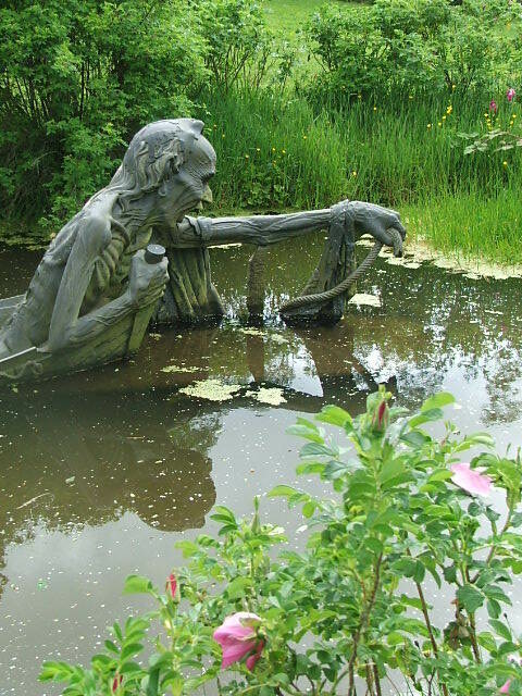 Ferryman Statue, Wicklow, Ireland