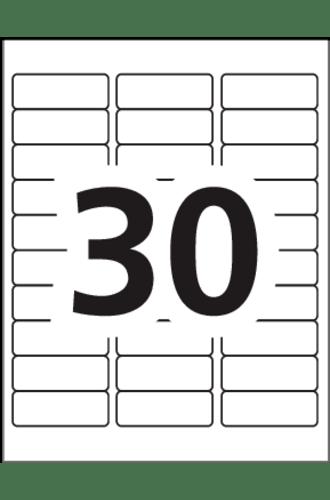 Avery Address Labels 5160 Blank 30 Labels Per Sheet