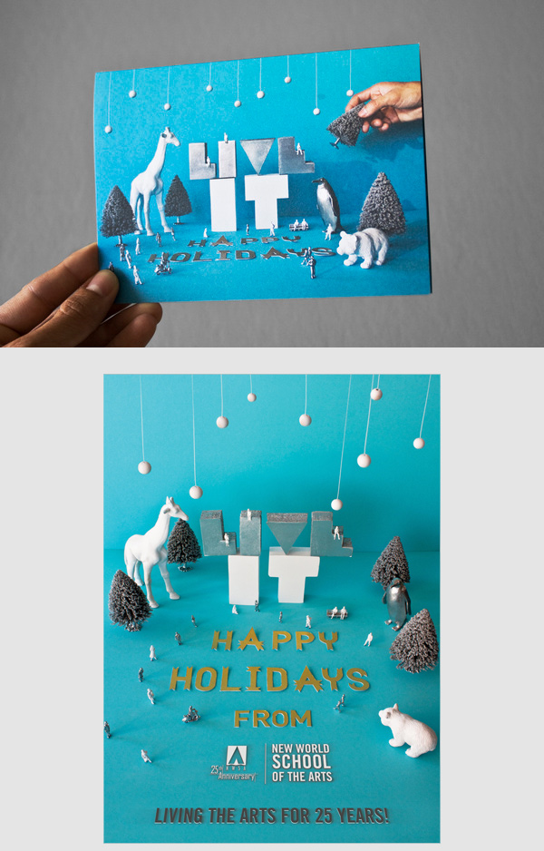 Christmas Cards From Behance For Your Inspiration