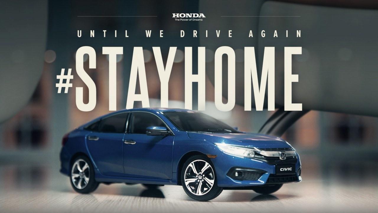 Novo comercial da Honda foi feito sem sair de casa usando miniatura de um Civic