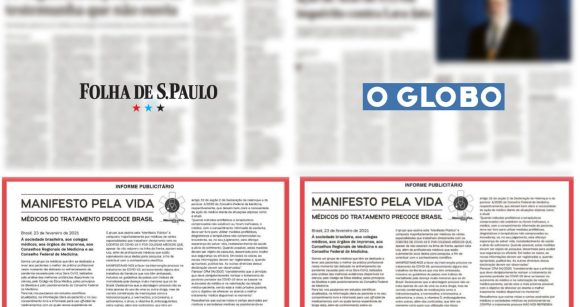 """""""Informe publicitário"""" negacionista nos jornais O Globo e Folha atesta divisão entre editorial e comercial"""