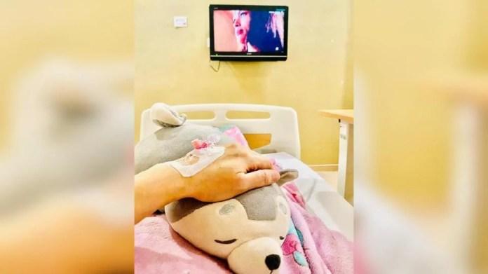 DJ Lin akhirnya terpaksa menyerah kalah dan mendapatkan rawatan ke hospital selepas dua minggu tidak sihat. - Foto IG DJ Lin