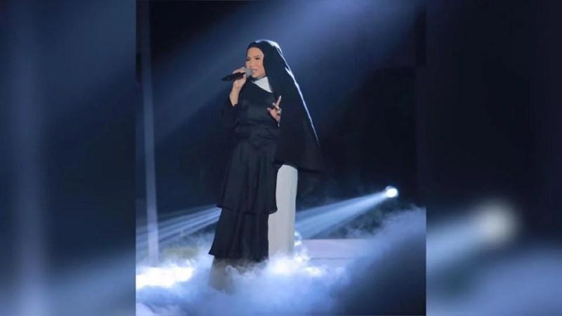 Bersaing lagi pada edisi ke-35 dengan lagu Semalam, aksi Aina ketika mendendangkan lagu Sumpah pada AJL34 mencetuskan kontroversi. Foto IG Muzik Muzik Official