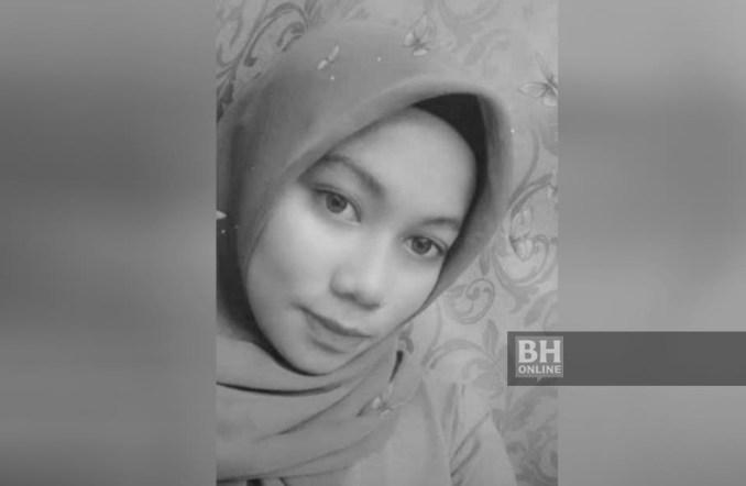 Siti Surya Ismail, 19, dipercayai dibunuh dalam kejadian samun di rumahnya di Kampung Lubok Batu, Telemong.
