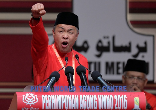 Image result for Zahid Hamidi at UMNO GA