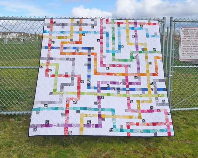 Patterns by Elizabeth Hartman     TOKYO SUBWAY MAP QUILTS pdf quilt     Image of TOKYO SUBWAY MAP QUILTS pdf quilt pattern