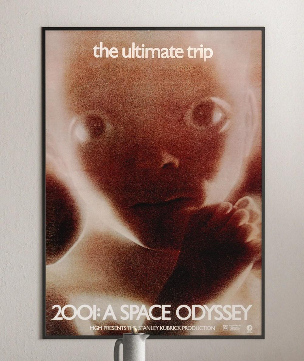 2001 space odyssey stanley kubrick movie poster wall art