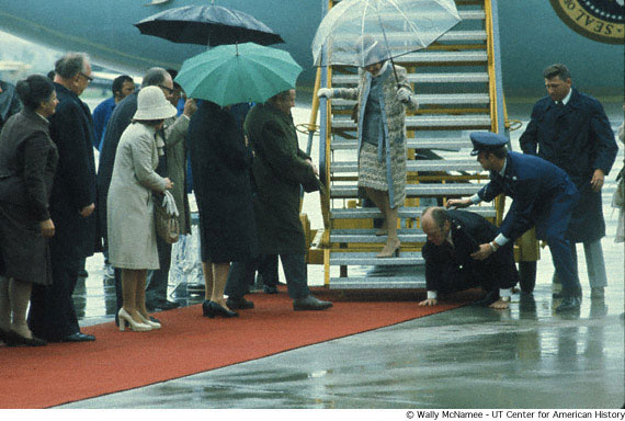 Gerald Ford in the rain