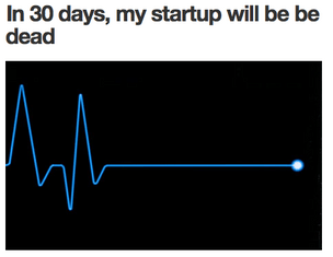 A Tumblr that purports to tell the last 30 days of life at a startup has caught the attention of funders, founders and the media that cover them since it appeared on Tuesday.<br /><br /><br /><br /><br /><br /><br /><br /><br /><br />