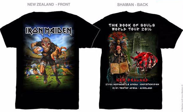 Iron Maidens Tour T Shirt Pays Tribute To New Zealand Men