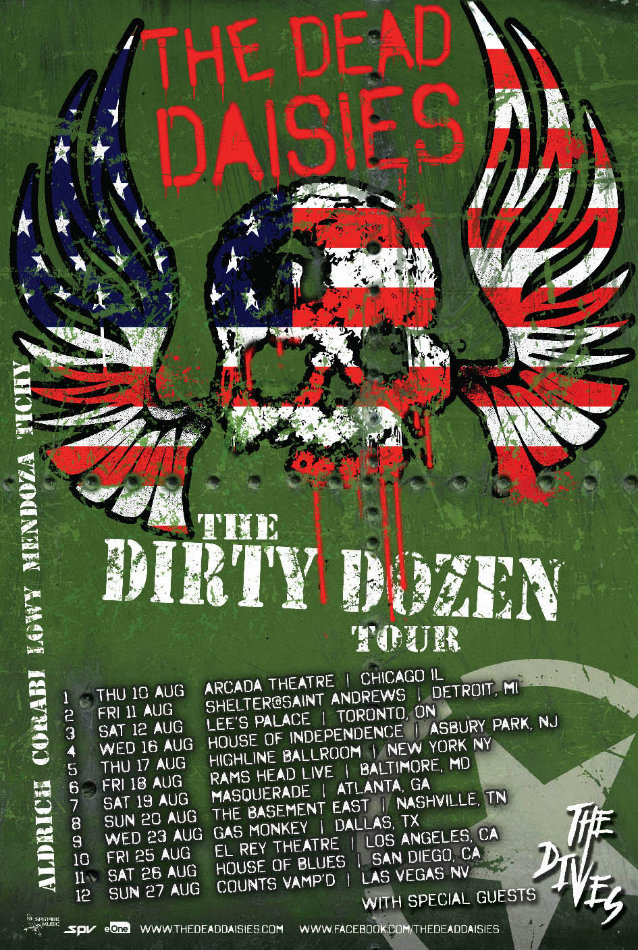 thedeaddaisies2017northamericatourposter