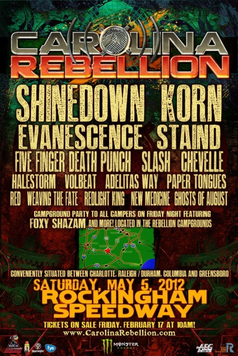 Shinedown Korn Evanescence Staind Confirmed For