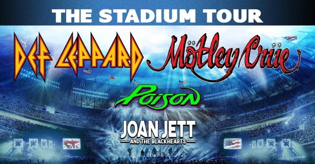 """DEF LEPPARD, MÖTLEY CRÜE, POISON y JOAN JETT & THE BLACKHEARTS: Los detalles de """"The Stadium Tour & # 39; revelado"""