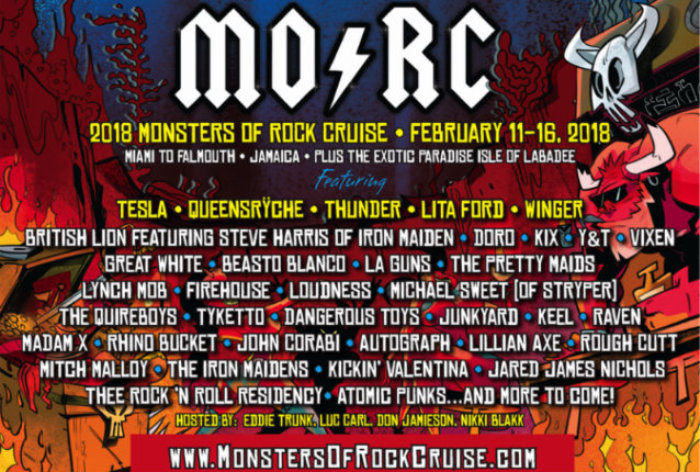 TESLA, QUEENSRŸCHE, LITA FORD, WINGER, DORO, KIX Set For 2018 MONSTERS OF ROCK CRUISE