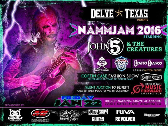 ROB ZOMBIE Guitarist JOHN 5 To Headline NAMMJAM 2016