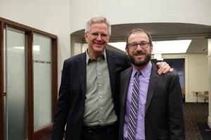 Rick Steves with Illinois NORML's Ali Nagib