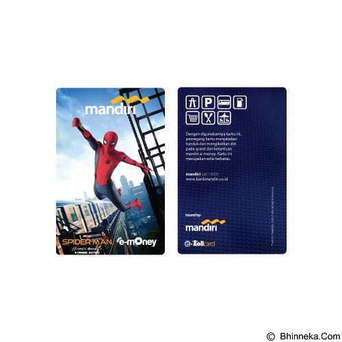 MANDIRI e-Money Special Design Spiderman Homecoming 3