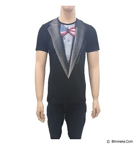 BEIBZ Bow Tie Male Shirt All Size - Black (V)