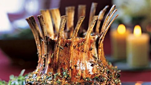 crown roast of lamb with rosemary and oregano