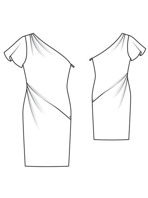 Member Model Challenge: Asymmetric Designer Dress by Burda Style Burda pattern