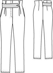 Burda 9/2014 #113 technical drawing